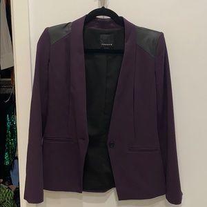 Dark purple blazer